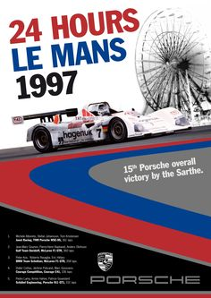 Porsche Le Mans 1997 Poster A