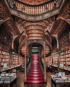 Porto Portugal, Visit Portugal, Portugal Travel, Livraria Lello Porto, Word On The Water, Earthy Home Decor, Dream Library, Beautiful Library, Medieval Castle