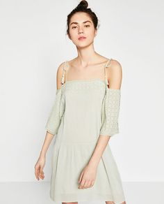 Image 2 of OFF-THE-SHOULDER EMBROIDERED DRESS from Zara