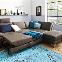 """Atraktivní a pohodlná sedací souprava v látkovém i celokoženém provedení. Variabilní, konfigurovatelná do různých rohových sestav a do sestav tvaru """"U"""" nebo jako samostatná sofa."""