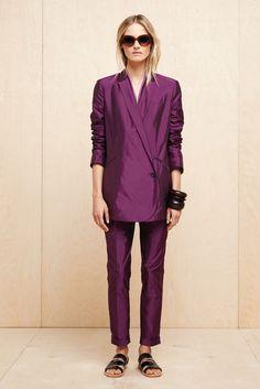 purple amethyst blazer pant suit - elizabeth and james - spring 2013 rtw #nyfw