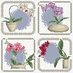 Maria Diaz Designs: ORCHIDS (Cross-stitch chart)