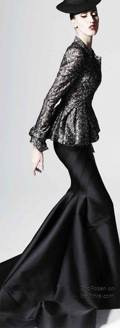 Anna Cleveland in Zac Posen - Iconic Fashion