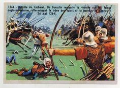 1364-BATAILLE-BATTLE-COCHEREL-DU-GUESCLIN-ENGLAND-FRANCE-MOYEN-AGE-MIDDLE-IMAGE