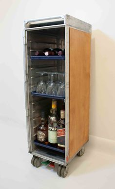Aircraft trolley wooden bar
