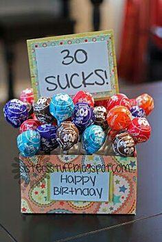 Fun gift idea for a birthday #30thbirthday #40thbirthday #giftideas