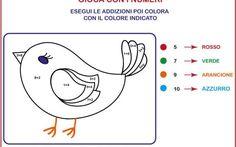 #scuola Prima elementare: giochiamo con la matematica In prima elementare abituarsi a fare i compiti può essere difficile. Ecco delle bellissime schede colorate perchè i compiti di matematica diventino un gioco. Tartarughe e uccellini che aiutano i bamb #scuola #compiti #primaelementare #bimbi