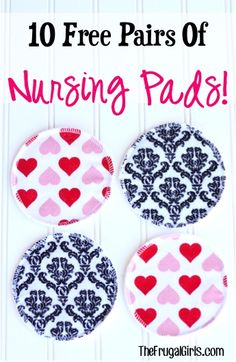 10 FREE Pairs of Reusable Nursing Pads!  {just pay s/h}