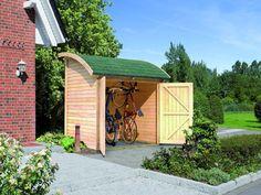 Abri de Jardin Bois Brut 2.60 m2 (19mm) avec toit en tonnelle Karibu  Prix: 745€  Contactez nous au 01.43.75.15.90