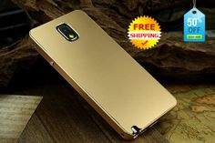 Samsung Galaxy note 3 Cases Metal Bumper Gold // CoolestPhoneCase @ etsy, $55.95