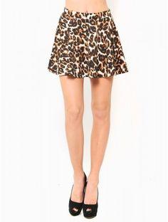 #Leopard Skater #Skirt