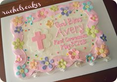 1st communion sheet cake