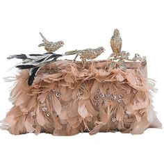 valentino bird clutch ❤ liked on Polyvore featuring bags, handbags, clutches, purses, valentino, accessories, valentino purses, brown handbags, valentino handbags and brown purse