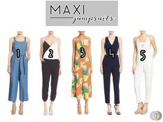 Have a fresh and comfy look with these maxi jumpsuit selections for summer and spring season. www.theteelieblog.com #TeelieBlog