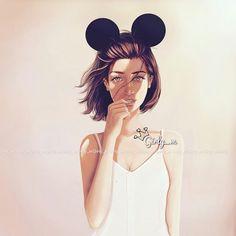 grafika girly_m, drawing, and art Girly Drawings, Cool Drawings, Girl M, Art Girl, Girly M Instagram, Cute Girls, Cool Girl, Background Drawing, Beautiful Drawings