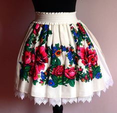 OOAK Skirt Gypsy Skirt Flower Skirt Russian Skirt by YesADress skirt courte cuir en jean longue fashion indian outfits outfits summer style Bohemian Skirt, Gypsy Skirt, Boho Skirts, Royal Dresses, Linen Dresses, Mode Russe, Ribbon Skirts, Wrap Skirts, Afghan Clothes