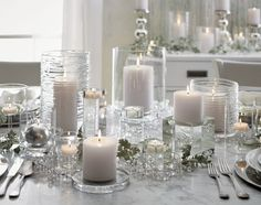 Elsa Large Glass Tea Light Candle Holder - Crate and Barrel Glass Tealight Candle Holders, Glass Tea Light Holders, Hurricane Candle Holders, Candle Holders Wedding, Tea Light Candles, Tea Lights, Candleholders, White Christmas Ornaments, Silver Christmas Decorations