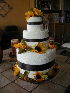 towel cake for wedding shower