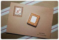 ご覧いただきありがとうございます。切手のためのフレームスタンプです。無地の封筒に切手がよく映えます。消しゴムはんこ専用のはんけしくんを使用しています。
