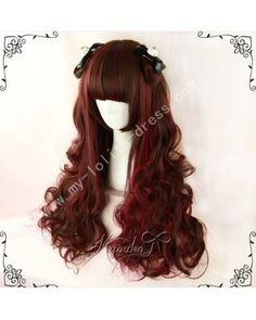 Dark Brown Wine Curls Lolita Wig #lolita  #wig