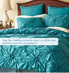Shop Pier 1 bedding exclusively online-in all the colors and styles youve been dreaming of