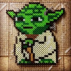 Yoda Star Wars perler beads by jdieguez11