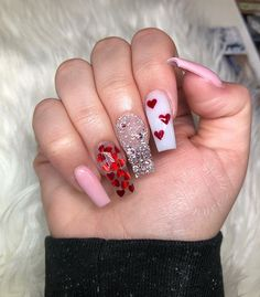 36 Inspiring Valentine Nail Art Design Ideas - Who doesn't cherish appropriately manicured and well-prepared nails? Guaranteeing you get as innovative with your nails as you are with your garments . Valentine's Day Nail Designs, Acrylic Nail Designs, Nails Design, Art Designs, Heart Nail Designs, Tapered Square Nails, Valentine Nail Art, Nails For Valentines Day, Valentine Nail Designs