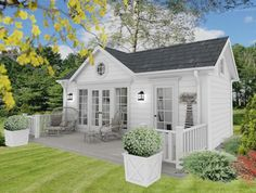 Love the look of this cottage. New House Plans, Small House Plans, Backyard Guest Houses, Small Pool Houses, Backyard Kitchen, Minimal House Design, Weatherboard House, Cottage Plan, New England Homes