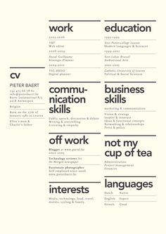 preciosos diseños de currículums que querrás robarte Creative layout for CV. Although the idea of 'not my cup of tea' seems utterly…Creative layout for CV. Although the idea of 'not my cup of tea' seems utterly… Visual Design, Web Design, Layout Design, Creative Resume Design, Creative Cv Template, Life Design, House Design, Resume Layout, Resume Cv
