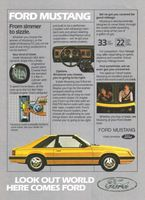 Ford Mustang L with T-Roof 1981 Ad Picture