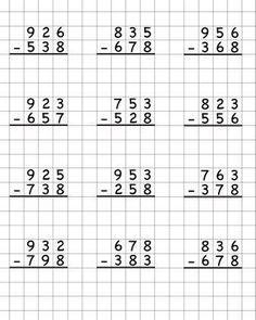 Фотография Math Division Worksheets, Math Addition Worksheets, 3rd Grade Math Worksheets, Printable Math Worksheets, School Worksheets, First Grade Math, Writing Practice Worksheets, Math Drills, Math Subtraction