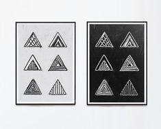 Geometry Print Set. Triangles Print A3 Poster. Art Teacher Gift. Dorm Wall Art. College Student Gift. New Home Gift. Geometric Wall Art