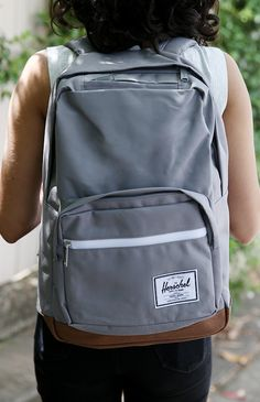 "Herschel - Pop Quiz 15"" Laptop Backpack - Grey/Tan PU from Peppermayo.com"