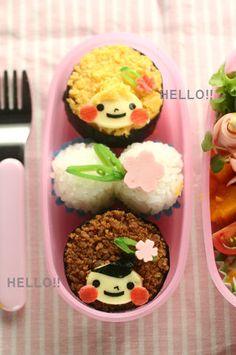 Soboro Sushi Girls Bento Lunch by 苺ママ