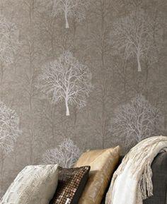 Gold trees wallpaper, G