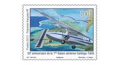 COLLECTORZPEDIA 50th Anniversary of the First Flight Connection Tahiti-Santiago