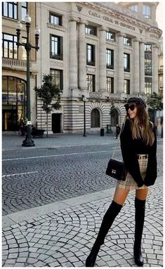 Burberry skirt gucci belt fashion belt burberry fashion gucci skirt fashion influx black frill puff sleeved crop top source by jaratribute trendy outfits Winter Outfits For Teen Girls, Winter Fashion Outfits, Autumn Fashion, Summer Outfits, Paris Winter Fashion, London Fashion, Vegas Outfits, Autumn Aesthetic Fashion, Paris France Fashion