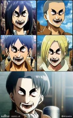 The Otaku Files: Meme Book: Attack On Titan (Shingeki no Kyojin) Attack On Titan Meme, Attack On Titan Fanart, Funny Anime Pics, Anime Meme, Eren And Annie, Cosplay Meme, Aot Funny, Hxh Characters, Fictional Characters