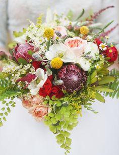 protea + billy ball bouquet