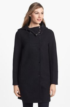 Kristen Blake Hooded Boiled Wool Topper available at #Nordstrom