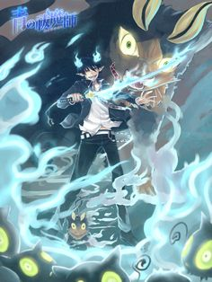 Ao no Exorcist : Rin to Kuro by allenerie.deviantart.com on @deviantART