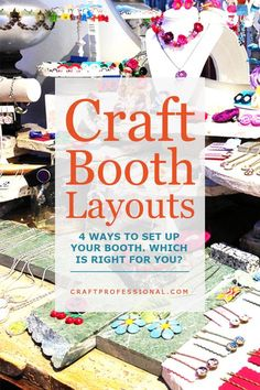 Here are 4 common ways to layout your craft booth. Which one will be right for your art show display? Craft Show Table, Craft Fair Table, Craft Show Booths, Craft Booth Displays, Craft Show Ideas, Craft Show Booth Display Ideas Layout, Vendor Displays, Market Displays, Retail Displays