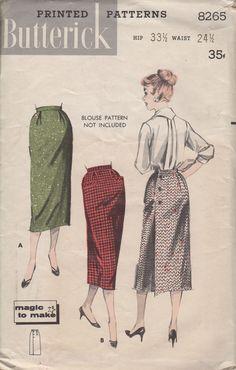 Butterick sewing pattern 8265