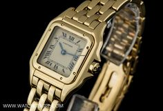 Cartier 18k Yellow Gold Ivory Dial Panthere Ladies Wristwatch AU $6,181
