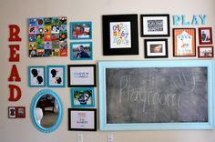 Playroom gallery wall gallery wall tips