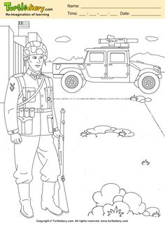 Soldier with Weapon Coloring Page