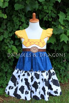 Hey, I found this really awesome Etsy listing at https://www.etsy.com/listing/196483401/jessie-toy-story-inspired-dress