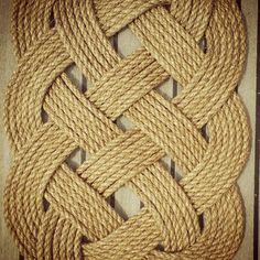 Nautical, Natural, and Knotted. Ocean Plait Floor Mat made from manila marine rope