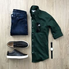 men's fashion style outfit and outfit grids inspirations style grid for men fashion for men Fashion Mode, Denim Fashion, Fashion Outfits, Fashion Trends, Fashion Ideas, Business Casual Men, Herren Outfit, Outfit Grid, Men's Wardrobe