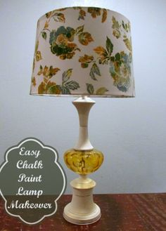Just A Little Creativity: Simplest Lamp Makeover Ever Using Chalk Paint®